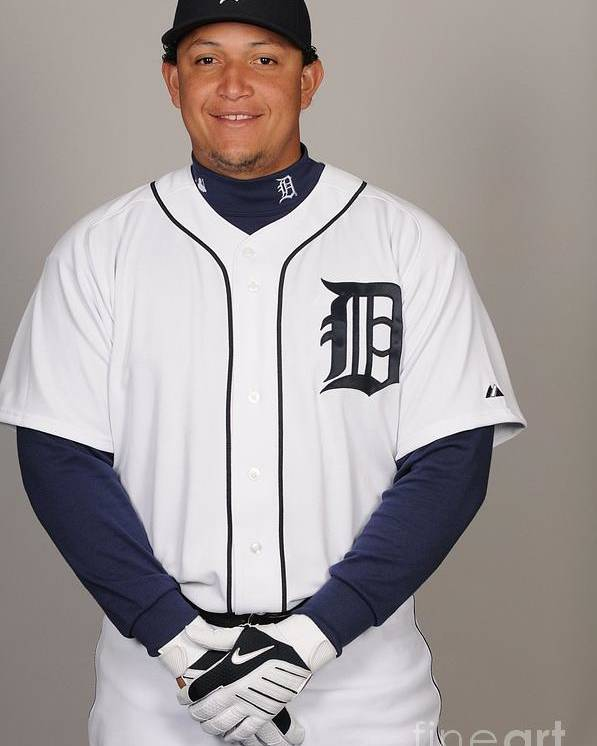Media Day Poster featuring the photograph Miguel Cabrera by Tony Firriolo