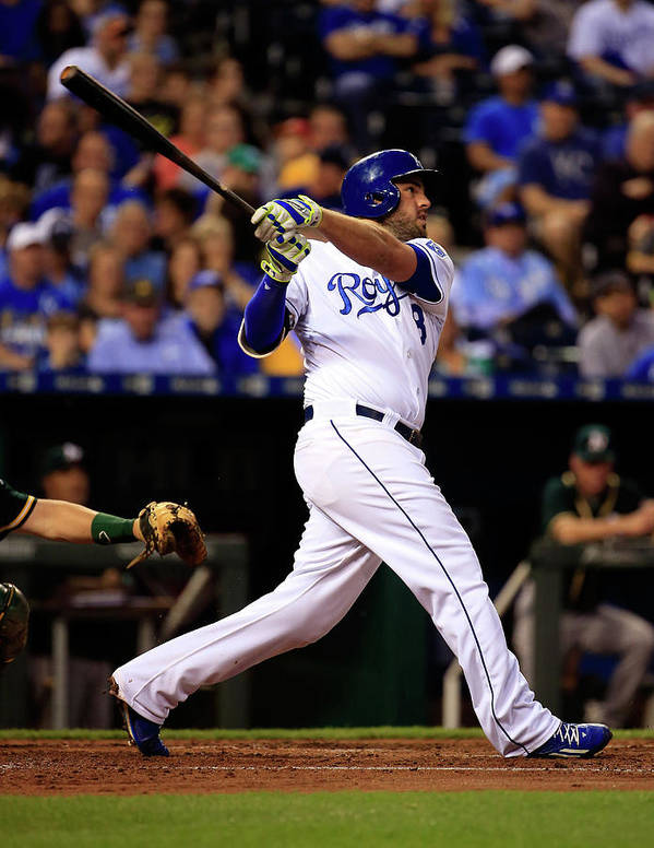 American League Baseball Poster featuring the photograph Mike Moustakas by Jamie Squire