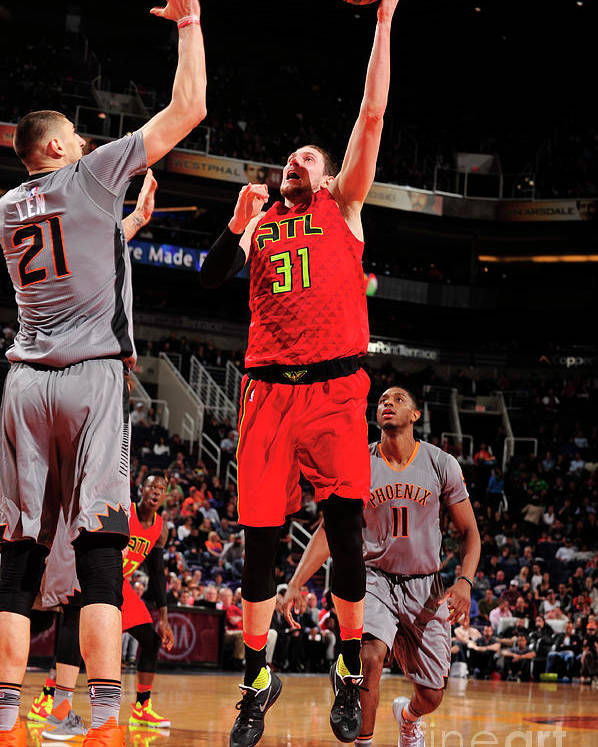Nba Pro Basketball Poster featuring the photograph Mike Muscala by Barry Gossage