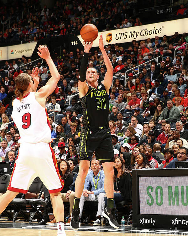 Atlanta Poster featuring the photograph Mike Muscala by Kevin Liles