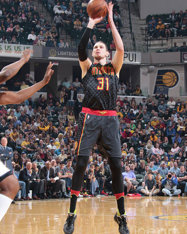 Nba Pro Basketball Poster featuring the photograph Mike Muscala by Ron Hoskins