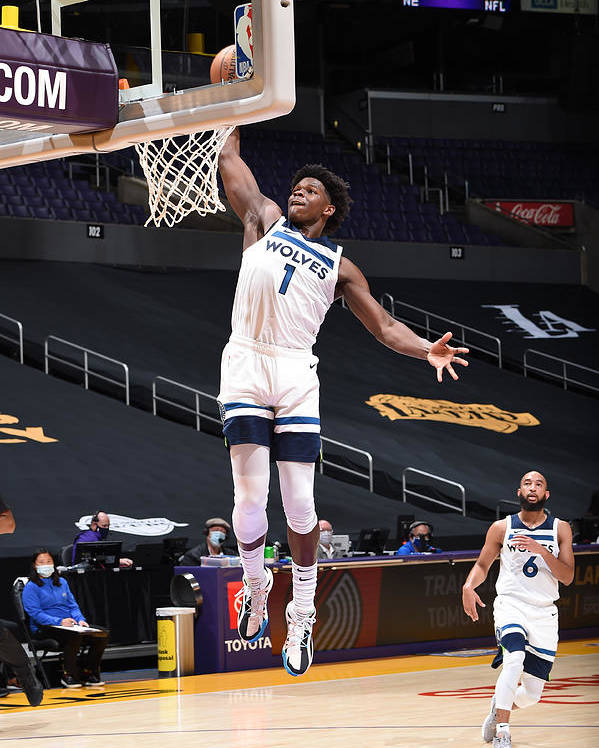 Nba Pro Basketball Poster featuring the photograph Minnesota Timberwolves v LA Lakers by Adam Pantozzi