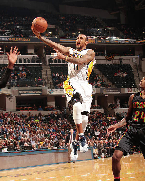 Nba Pro Basketball Poster featuring the photograph Monta Ellis by Ron Hoskins