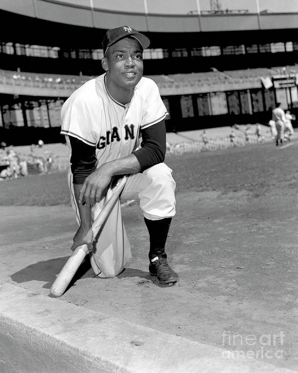 People Poster featuring the photograph Monte Irvin by Kidwiler Collection