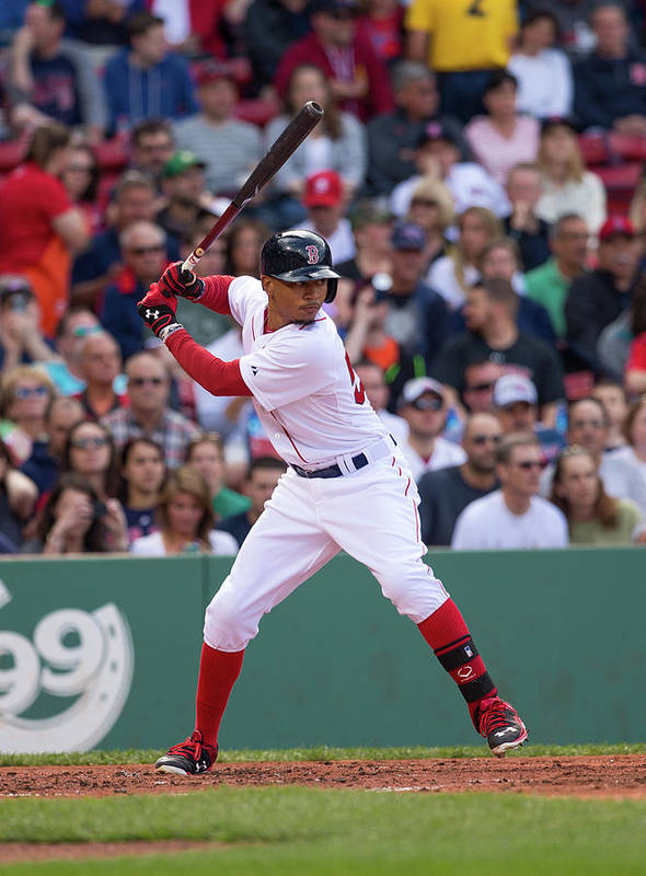 Second Inning Poster featuring the photograph Mookie Betts by Rich Gagnon