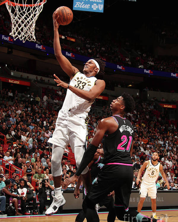Nba Pro Basketball Poster featuring the photograph Myles Turner by Issac Baldizon