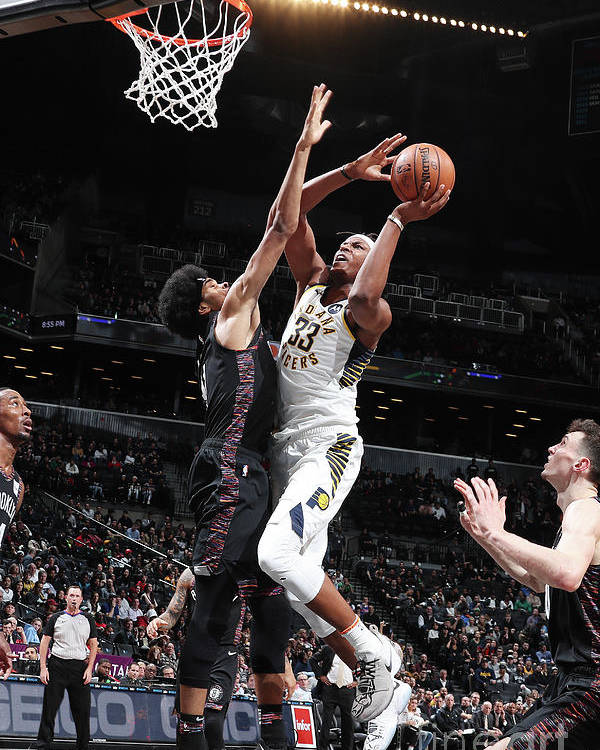 Nba Pro Basketball Poster featuring the photograph Myles Turner by Nathaniel S. Butler