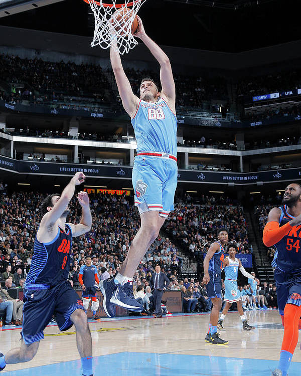 Nba Pro Basketball Poster featuring the photograph Nemanja Bjelica by Rocky Widner