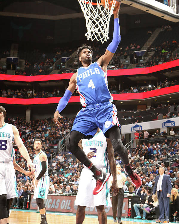 Nba Pro Basketball Poster featuring the photograph Nerlens Noel by Brock Williams-smith