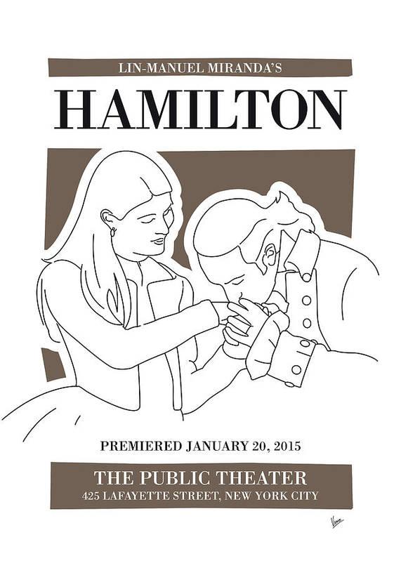 Hamilton Poster featuring the digital art No003 MY Hamilton musical poster by Chungkong Art
