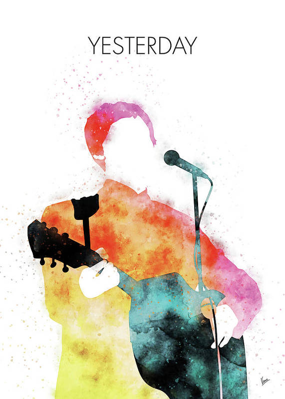 Paul Poster featuring the digital art No076 MY PAUL MCCARTNEY Watercolor Music poster by Chungkong Art