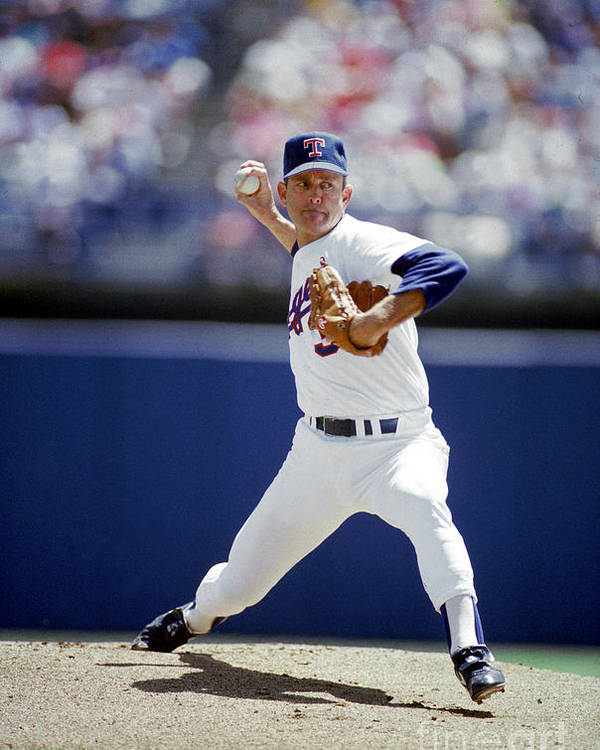 1980-1989 Poster featuring the photograph Nolan Ryan by Louis Deluca