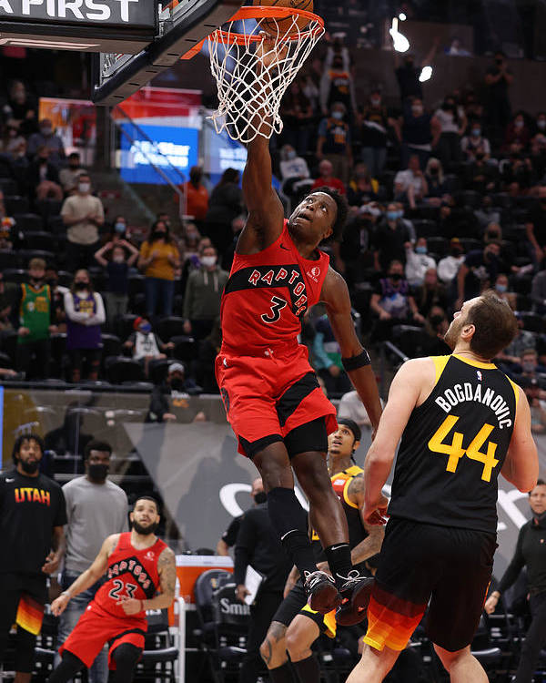Nba Pro Basketball Poster featuring the photograph Og Anunoby by Melissa Majchrzak