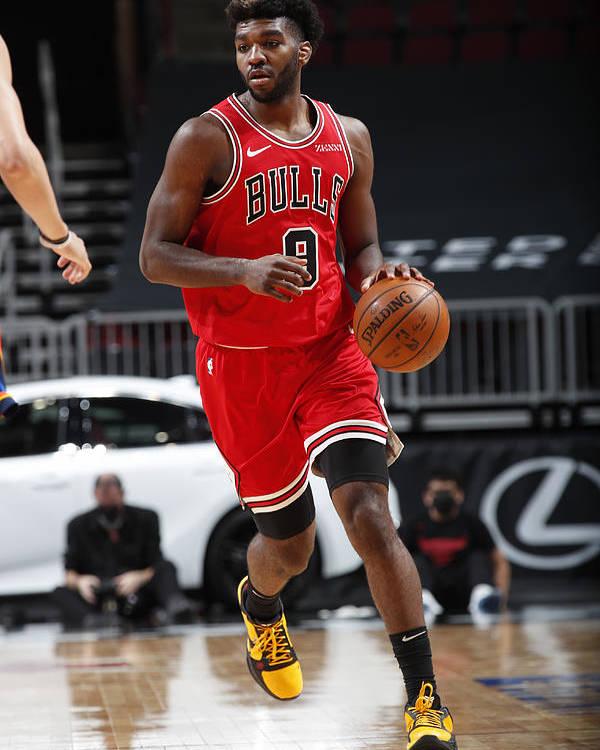 Nba Pro Basketball Poster featuring the photograph Oklahoma City Thunder v Chicago Bulls by Jeff Haynes