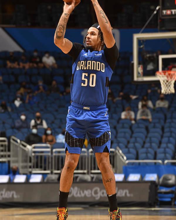 Nba Pro Basketball Poster featuring the photograph Oklahoma City Thunder v Orlando Magic by Gary Bassing