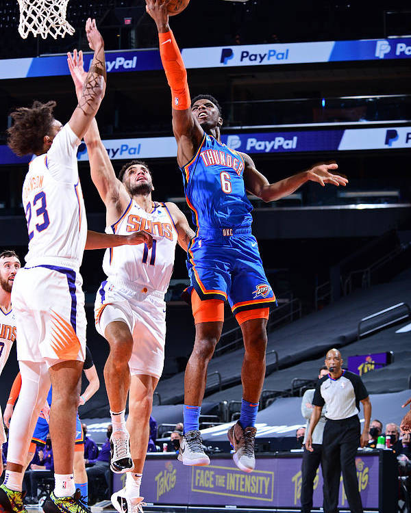 Nba Pro Basketball Poster featuring the photograph Oklahoma City Thunder v Phoenix Suns by Michael Gonzales