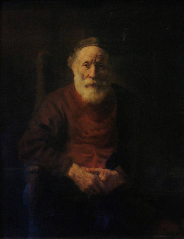 Rembrandt Poster featuring the painting Old Man in Red by Rembrandt