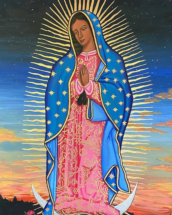 Poster featuring the painting Our Lady of Guadalupe by Kelly Latimore