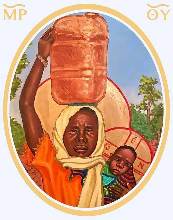 Poster featuring the painting Our Lady of the Journey #2 by Kelly Latimore