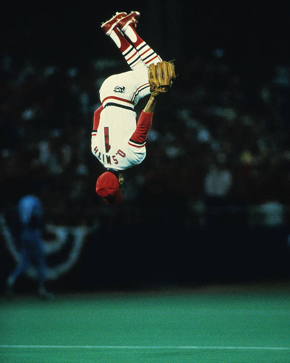 St. Louis Cardinals Poster featuring the photograph Ozzie Smith by Ronald C. Modra/sports Imagery