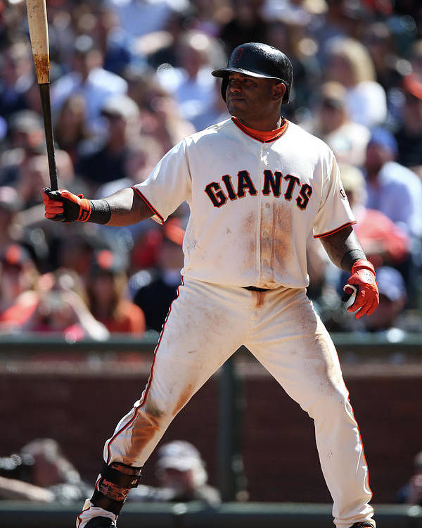 San Francisco Poster featuring the photograph Pablo Sandoval by Brad Mangin
