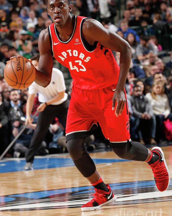 Nba Pro Basketball Poster featuring the photograph Pascal Siakam by Glenn James
