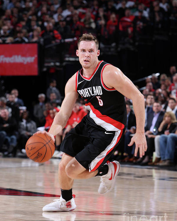 Nba Pro Basketball Poster featuring the photograph Pat Connaughton by Sam Forencich