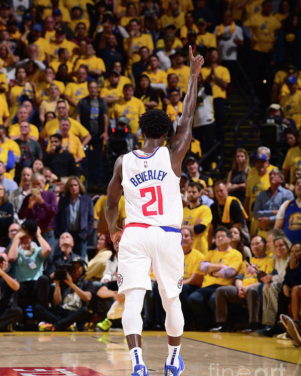 Playoffs Poster featuring the photograph Patrick Beverley by Noah Graham