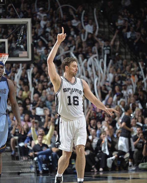 Playoffs Poster featuring the photograph Pau Gasol by Mark Sobhani