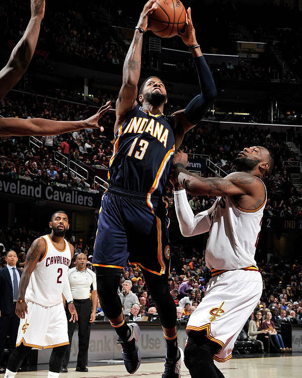 Nba Pro Basketball Poster featuring the photograph Paul George by David Liam Kyle