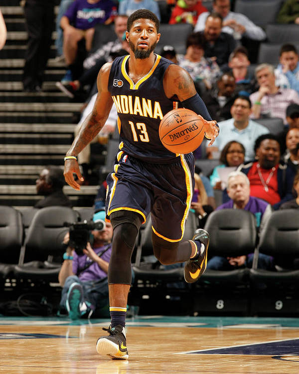 Nba Pro Basketball Poster featuring the photograph Paul George by Kent Smith