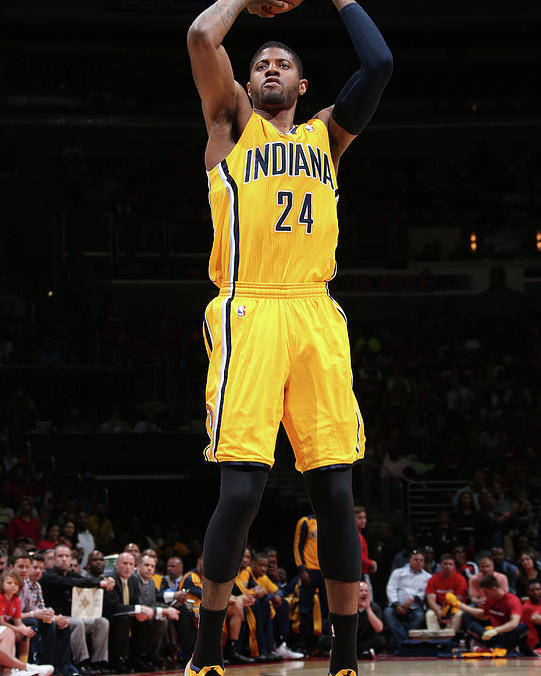 Playoffs Poster featuring the photograph Paul George by Ned Dishman