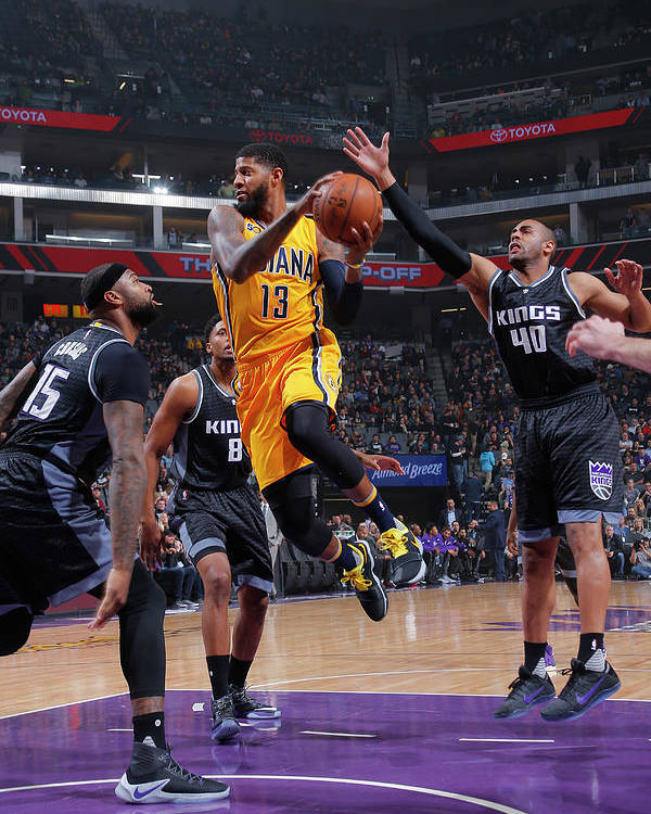 Nba Pro Basketball Poster featuring the photograph Paul George by Rocky Widner
