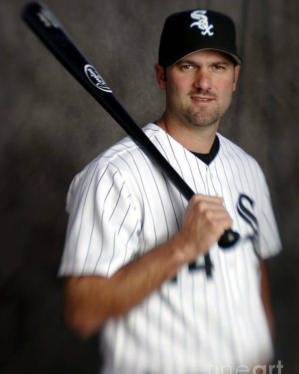 Media Day Poster featuring the photograph Paul Konerko by Brian Bahr