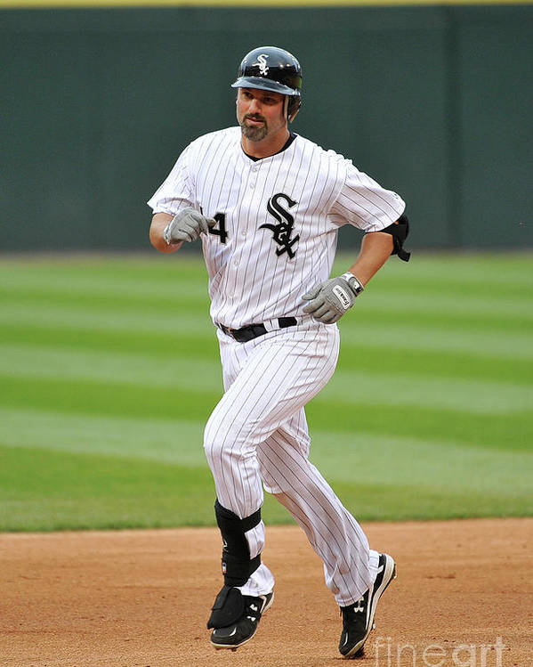 People Poster featuring the photograph Paul Konerko by Brian Kersey