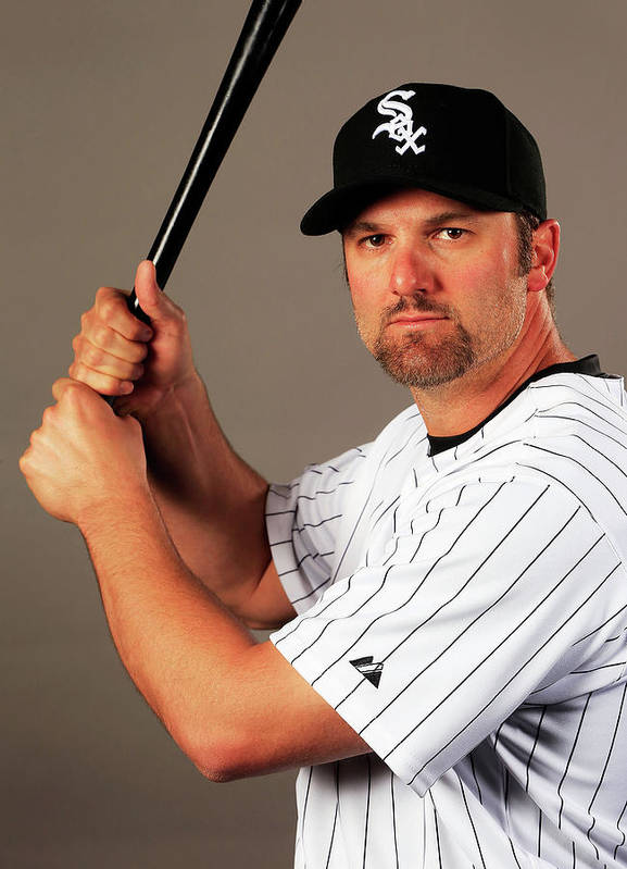 Media Day Poster featuring the photograph Paul Konerko by Jamie Squire