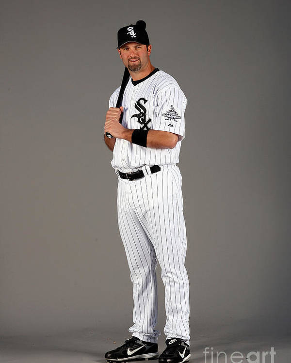 Media Day Poster featuring the photograph Paul Konerko by Otto Greule Jr