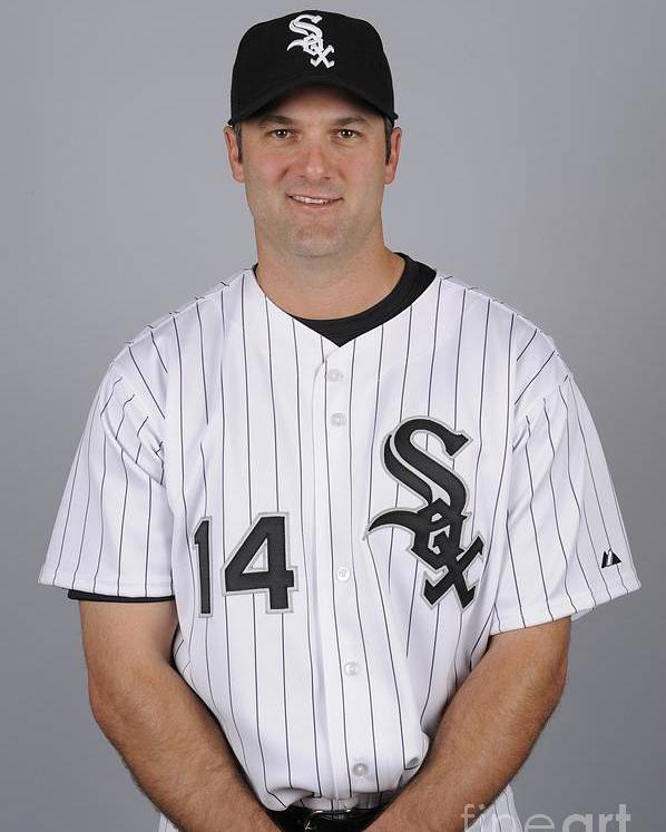 Media Day Poster featuring the photograph Paul Konerko by Ron Vesely