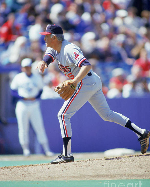 1980-1989 Poster featuring the photograph Phil Niekro by Gray Mortimore