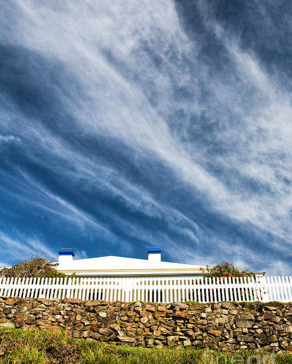 White Picket Fence Poster featuring the photograph Picket fence by Sheila Smart Fine Art Photography