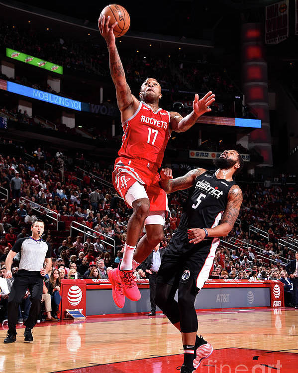 Nba Pro Basketball Poster featuring the photograph P.j. Tucker and Markieff Morris by Bill Baptist