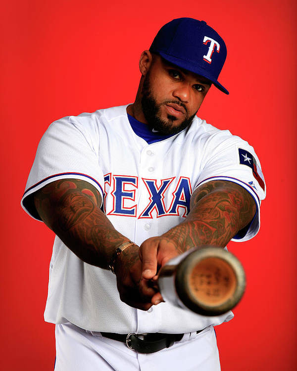 Media Day Poster featuring the photograph Prince Fielder by Jamie Squire