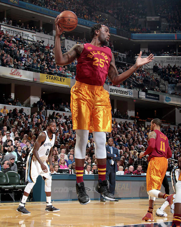 Nba Pro Basketball Poster featuring the photograph Rakeem Christmas by Ron Hoskins
