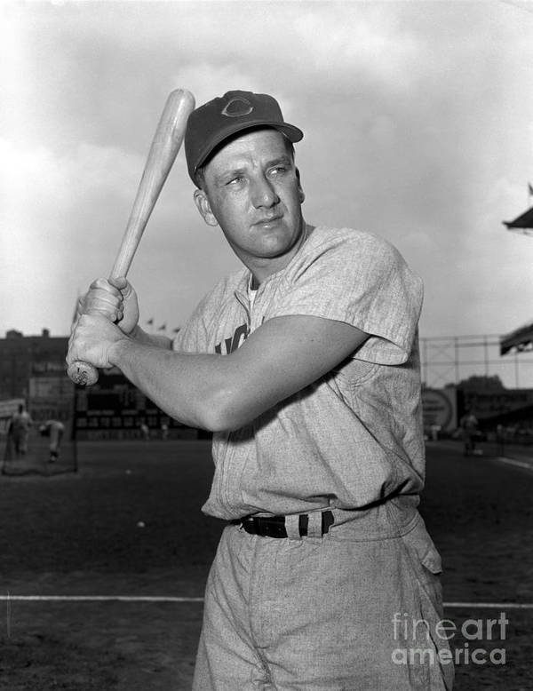 Three Quarter Length Poster featuring the photograph Ralph Kiner by Kidwiler Collection