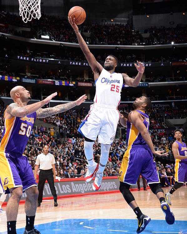 Nba Pro Basketball Poster featuring the photograph Reggie Bullock by Andrew D. Bernstein