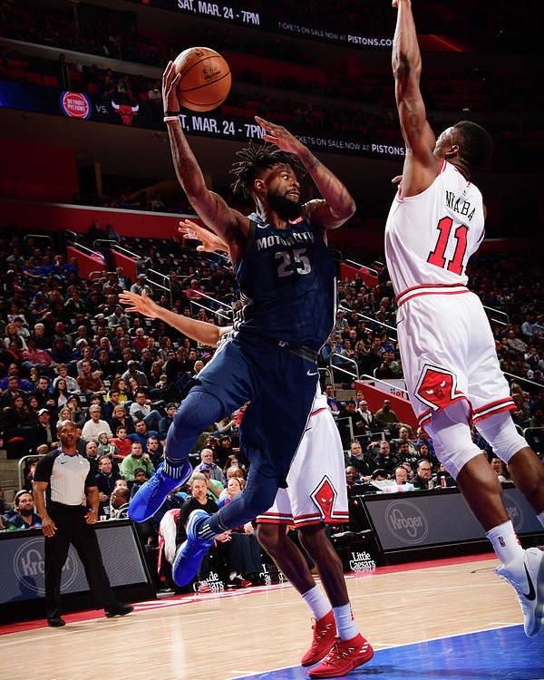 Nba Pro Basketball Poster featuring the photograph Reggie Bullock by Chris Schwegler