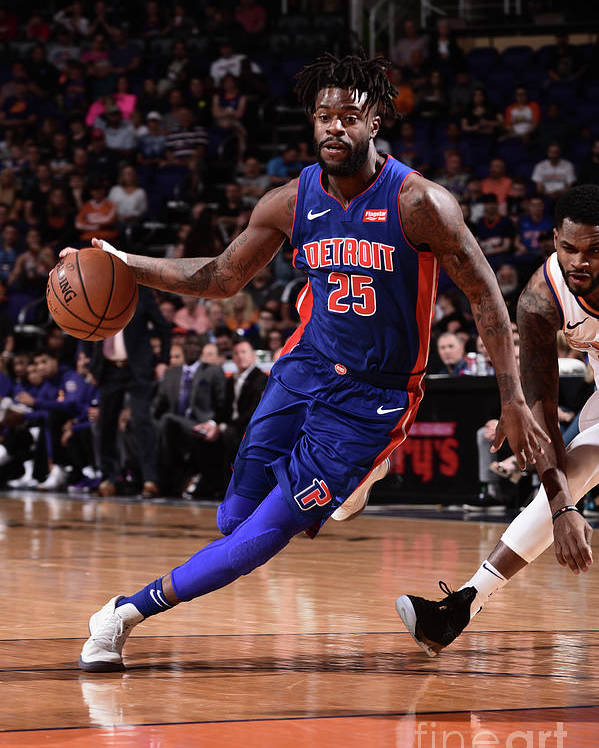 Nba Pro Basketball Poster featuring the photograph Reggie Bullock by Michael Gonzales