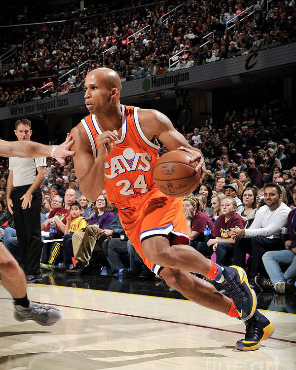 Nba Pro Basketball Poster featuring the photograph Richard Jefferson by David Liam Kyle