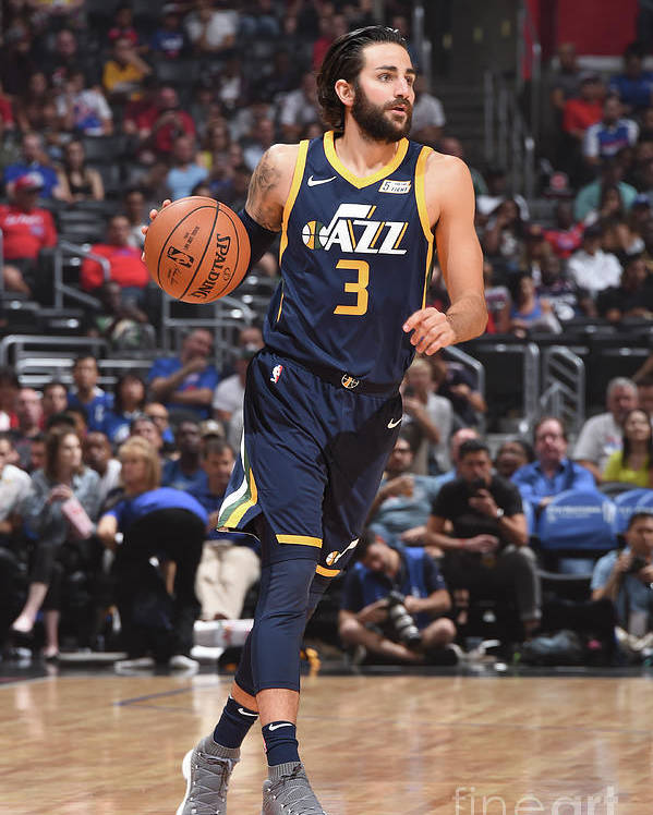 Nba Pro Basketball Poster featuring the photograph Ricky Rubio by Andrew D. Bernstein