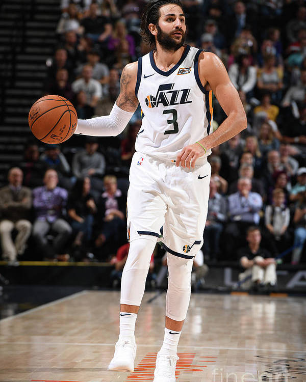 Nba Pro Basketball Poster featuring the photograph Ricky Rubio by Garrett Ellwood